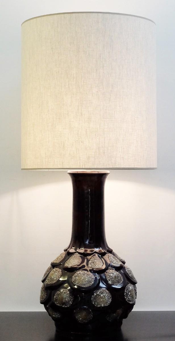 Fat Lava Brown Ceramic Table Lamp Via Antica Recent Added Items