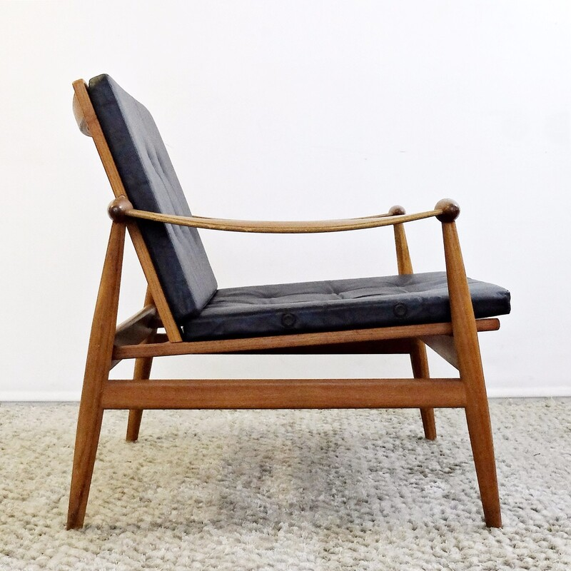 "Finn Juhl Model #133 ""Spade"" Teak Lounge Chair for France & Son"