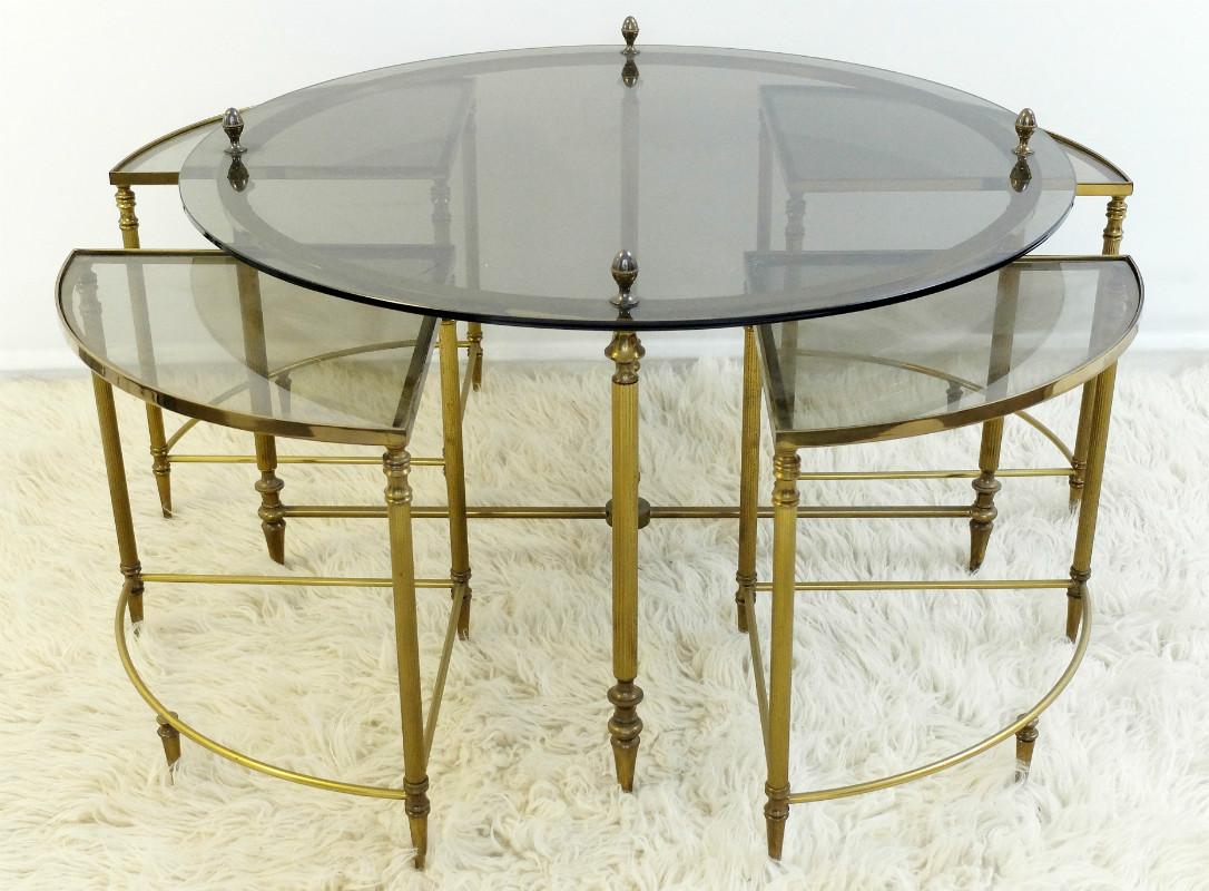 Five Piece Hollywood Regency Tail Table Set By Maison Jansen Desk Furniture Via Antica