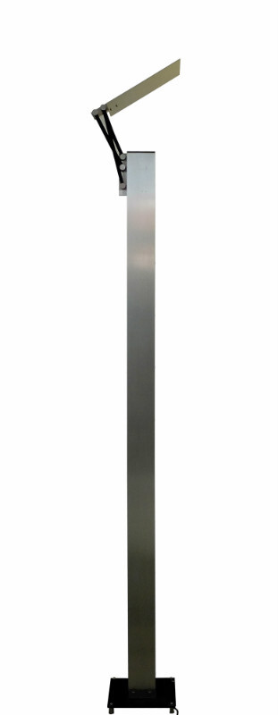 Floor Lamp C. 1980 - Brushed Chrome