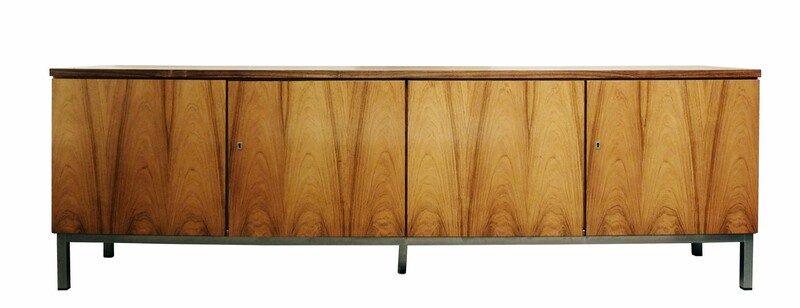 Florence Knoll Attributed Sideboard with Chrome Legs