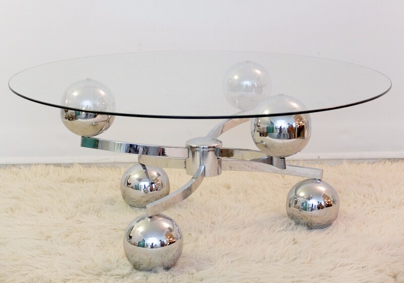 French Chrome Sputnik Coffee Table