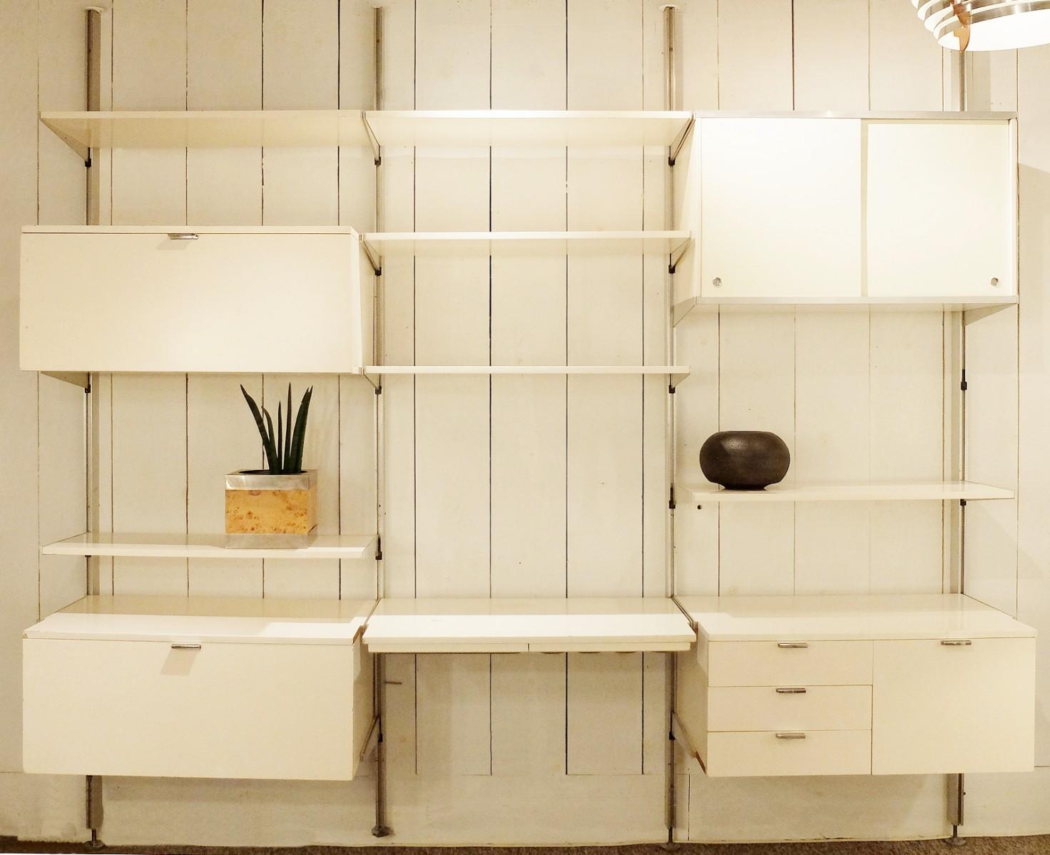 George Nelson Herman Miller CSS modular wall unit room divider Via