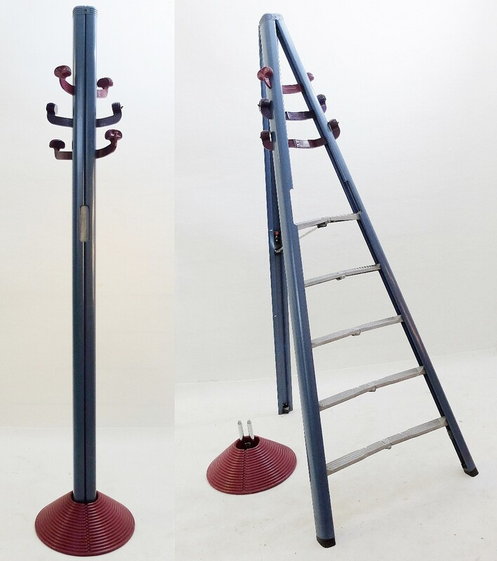Giancarlo Piretti Dilemma Coat Rack and Ladder, 1984