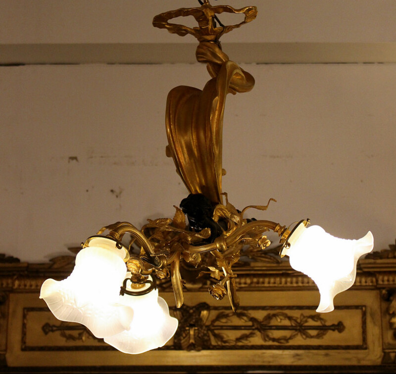 Gilded ceiling light