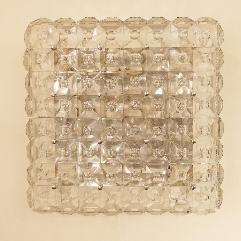 glass square ceiling light