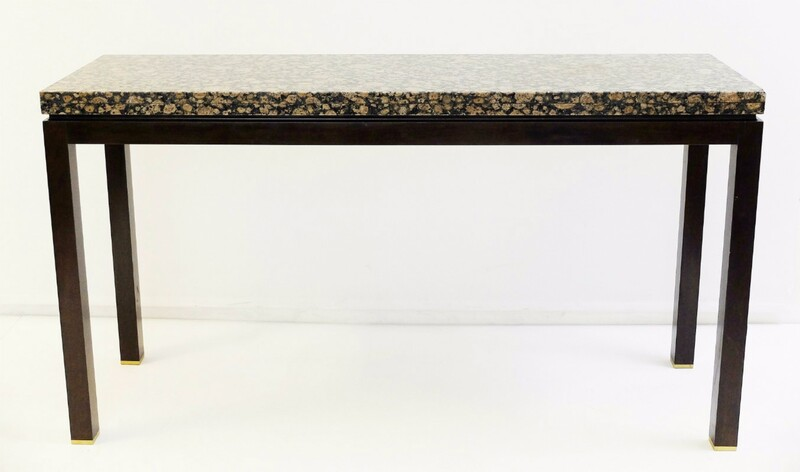 Granite And Wood Console - At. To E. J. Wormley