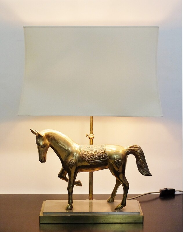 horse lamp bronze by Maison Jansen, 1970`s, French