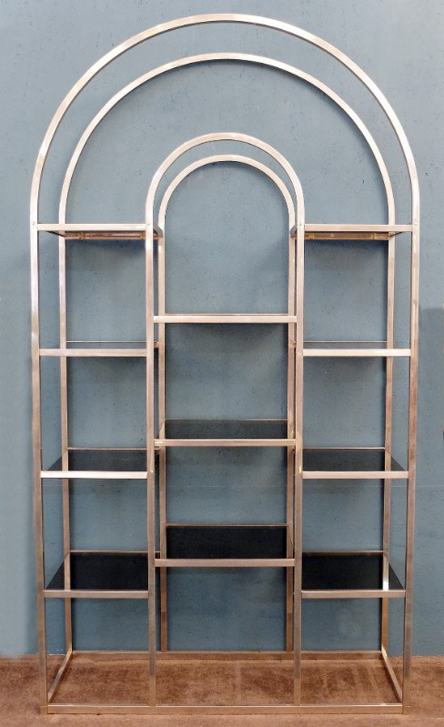 grande winchester bespoke bookshelf home metal products gold glass and design
