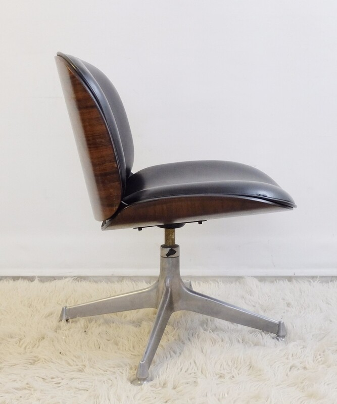Ico Parisi Rosewood Office chair for MIM Roma