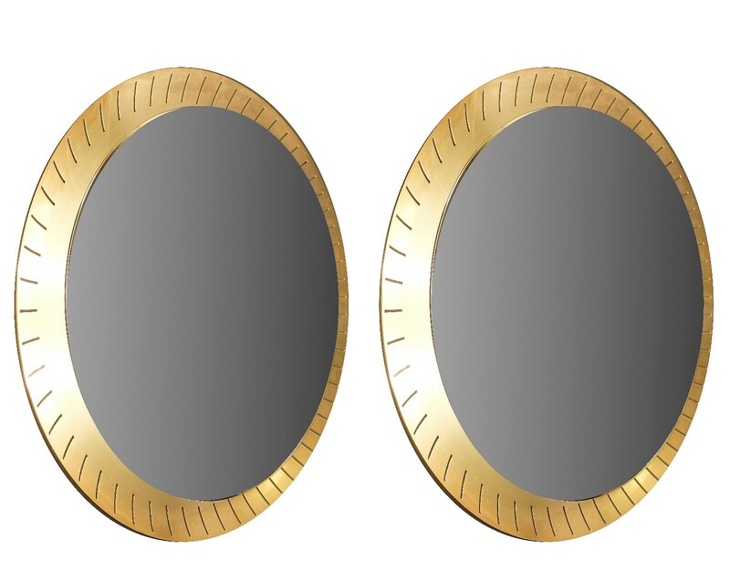 Illuminated mirrors by Stilnovo, 1950s - available in 2 sizes