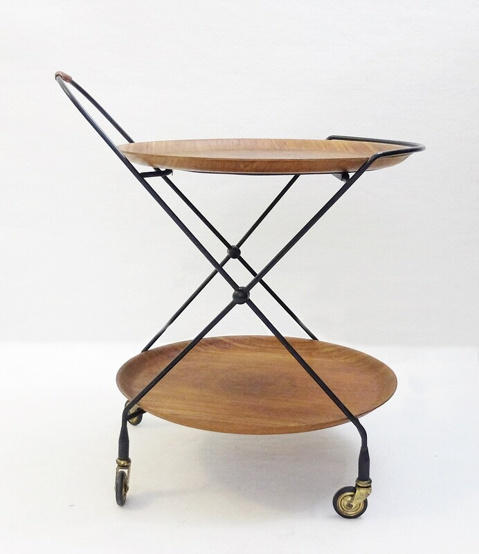 Impala Teak Serving Trolley from Åry Fanérprodukter Nybro, 1950s