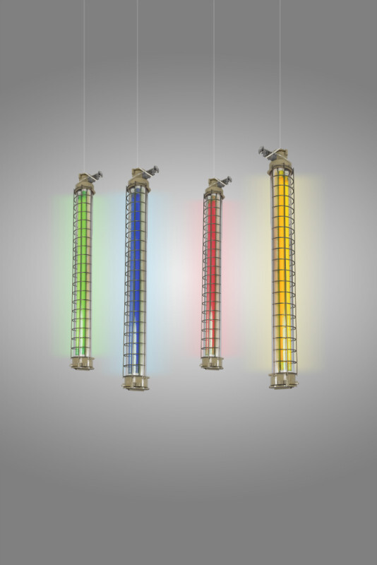 Industrial Ceiling Light-Columns, circa 1960 - 30 available