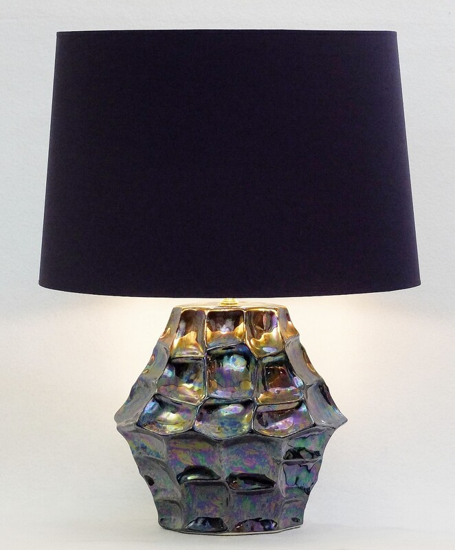 Iridescent Ceramic table lamp Lamp