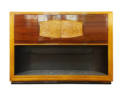 Italian art deco bar cabinet
