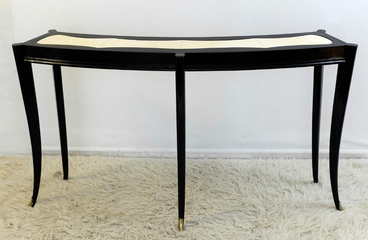 italian black lacquered console other furniture via