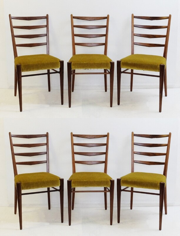 italian dining chairs - set of 6