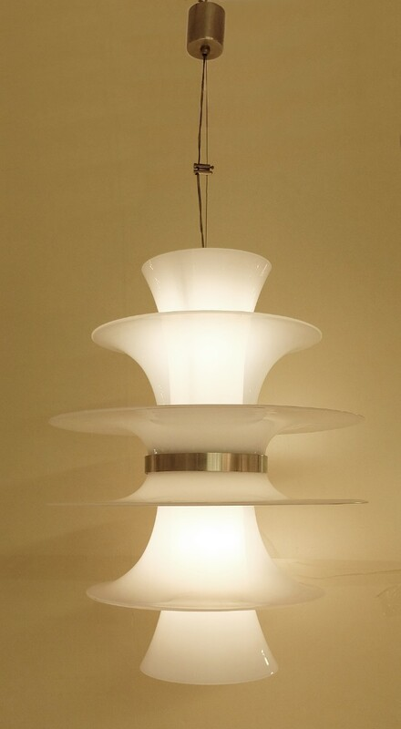 Italian glass ceiling light