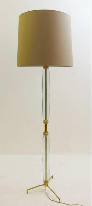 italian glass floor lamp
