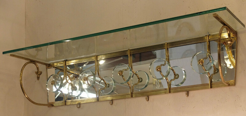 Italian Mirror Coat Rack - att. to Pier Luigi Colli