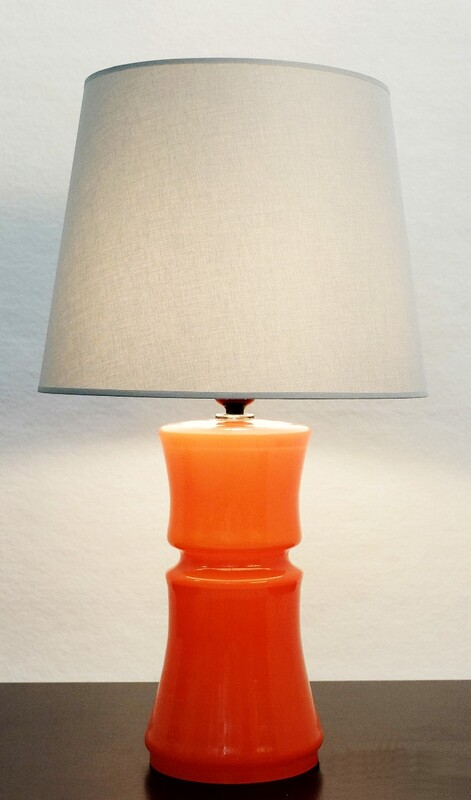 Italian Murano Glass Orange Table Lamp - Several Available