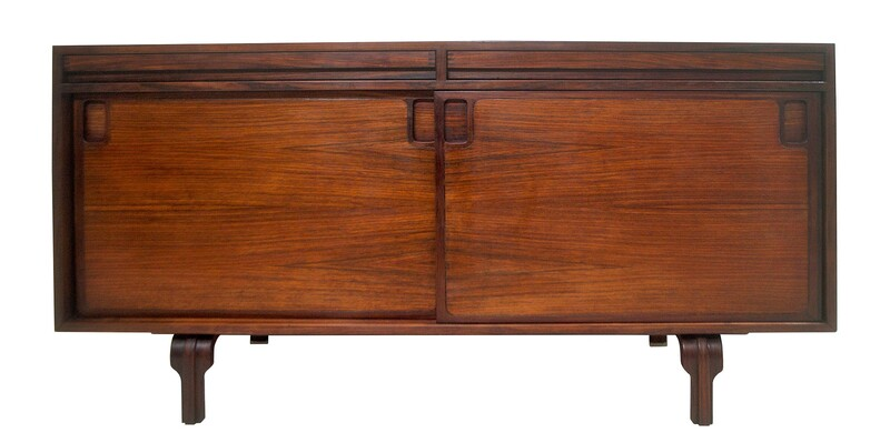 Italian Sideboard In Rosewood by L. Massoni, C.1960