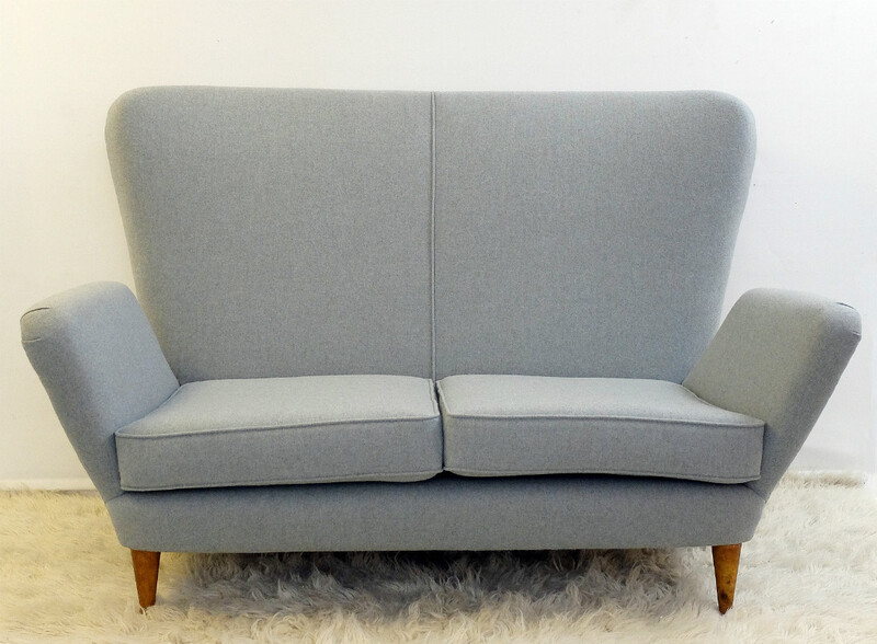 Italian sofa In The Style Of Paolo Buffa - New Upholstery - C. 1950