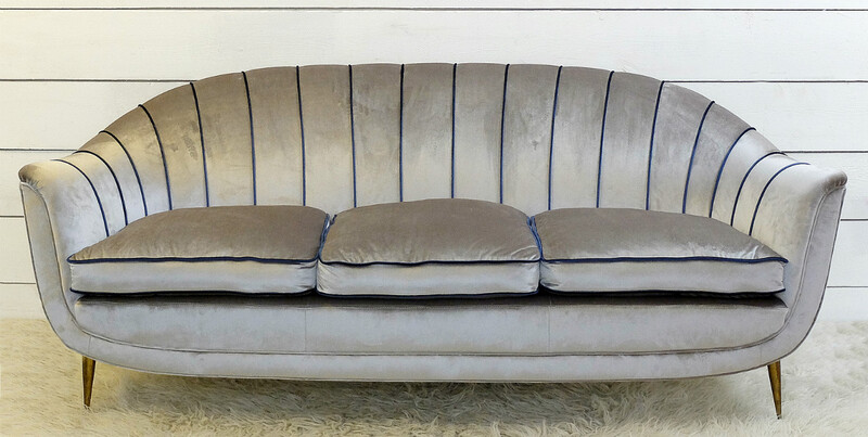 Italian Sofa - Newly Upholstered - c. 1950
