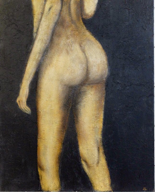 J.logghe - nude on canvas+sand