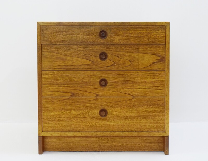 Karl Anderson scandinavian chest of drawers in oak , Borge MOGENSEN - 1960s
