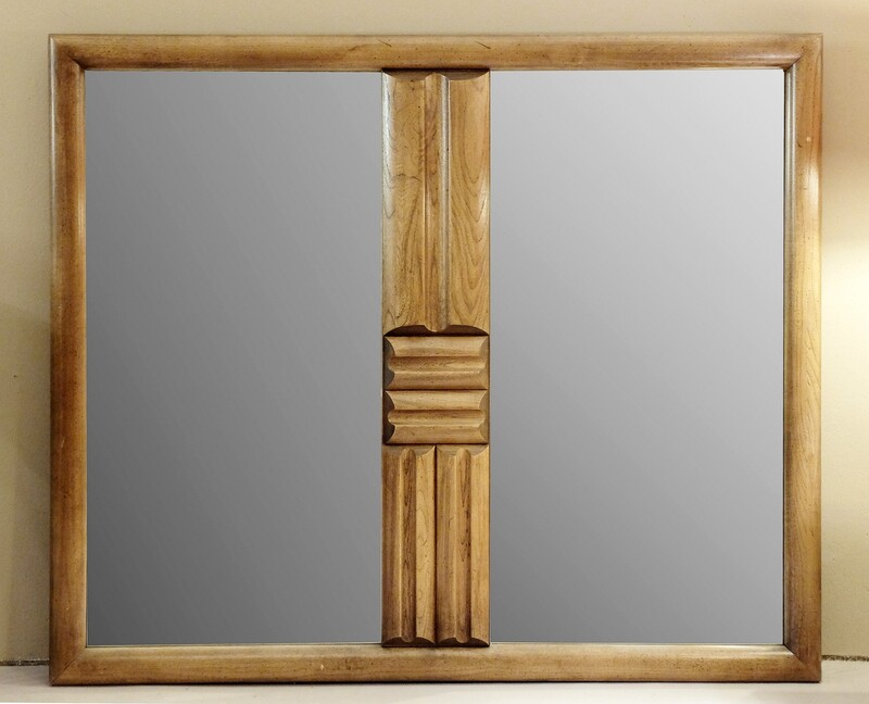 Large double mirror in the style of Guillerme et Chambron