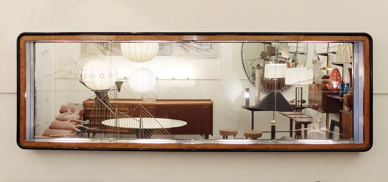 Large Italian Illuminated Wall Mirror -
