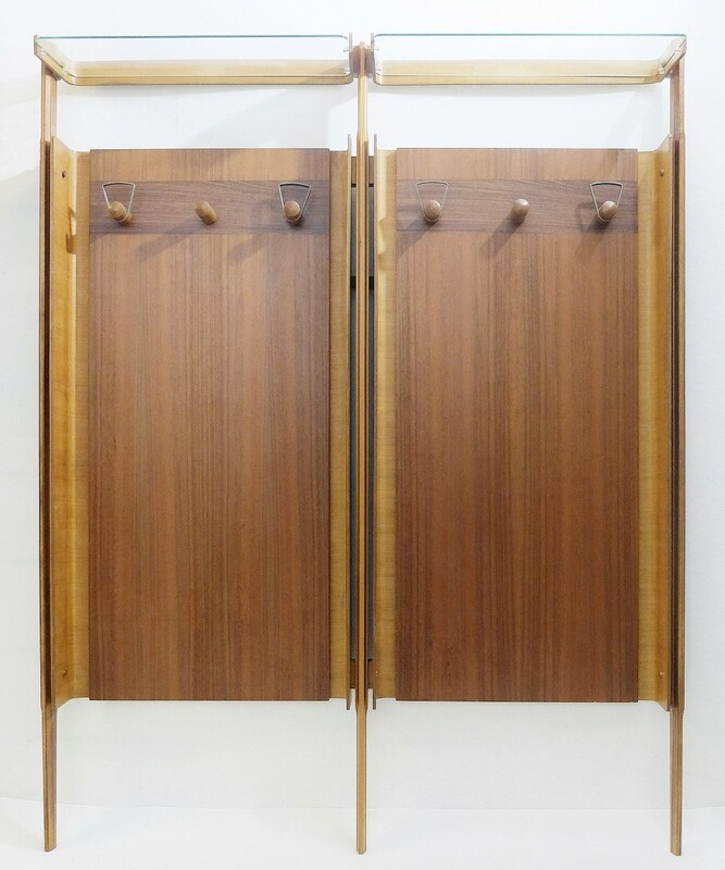 Large Italian Wall-Mounted Coat Rack