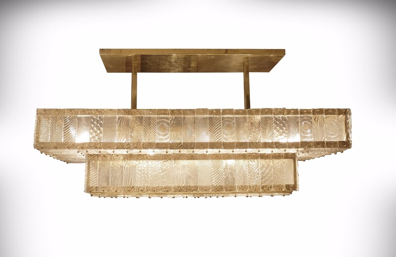 Large Rectangular Italian Chandelier