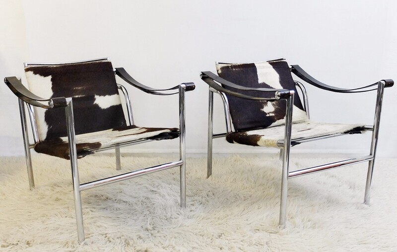 Le Corbusier - LC1 lounge chairs - 2 available