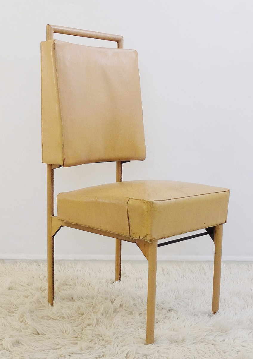 Leather And Iron Chair By Jacques Adnet Circa 1950 Chair