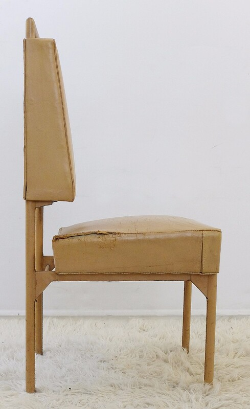 leather and iron chair by Jacques Adnet - Circa 1950