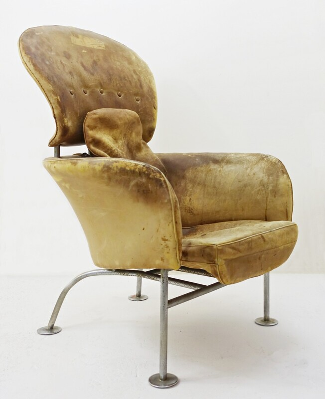 leather armchair att to Franco albini - To Restore