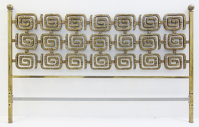 Luciano Frigerio Bed in Brass- 1970s-Italy