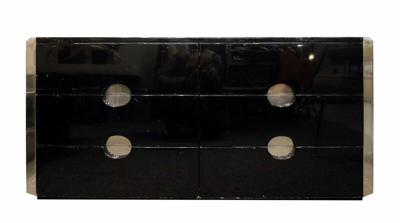 Luigi Caccia Dominioni Black Lacquer chest of drawers