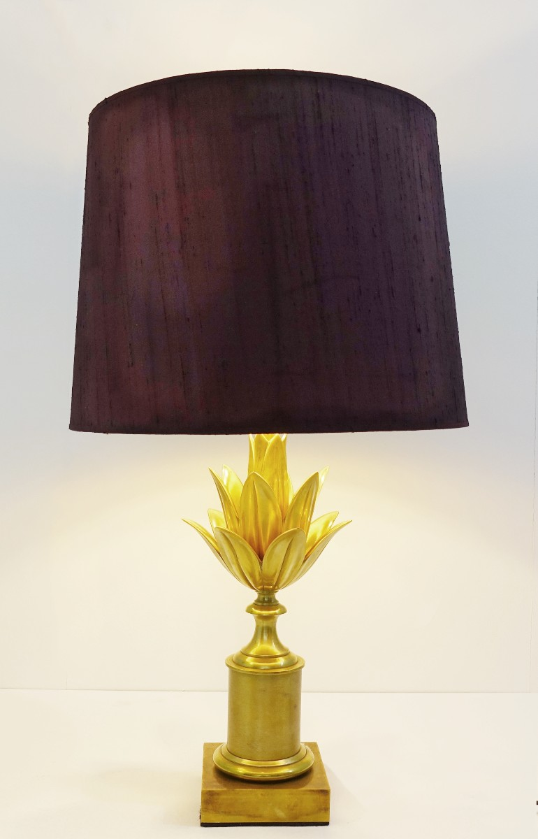 Maison Charles Brass Table Lampe Lotus Circa 1960 Table