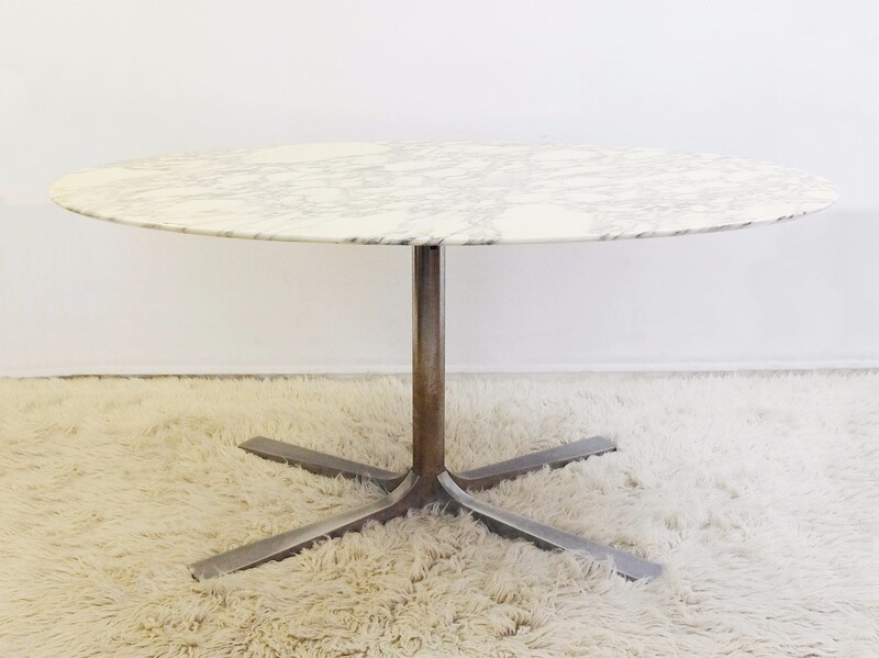 Marble Top Oval Dining Table