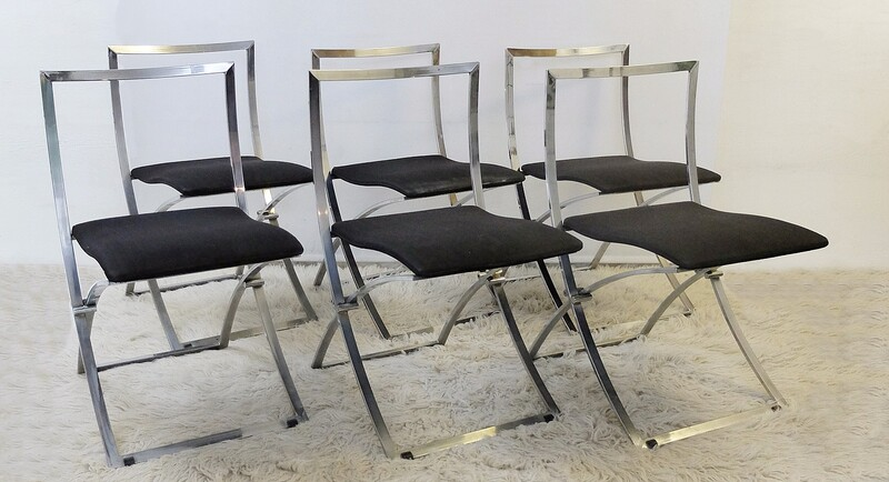 Marcello Cuneo Folding Chair 'Model Luisa' for Mobel Italia-Set of Six