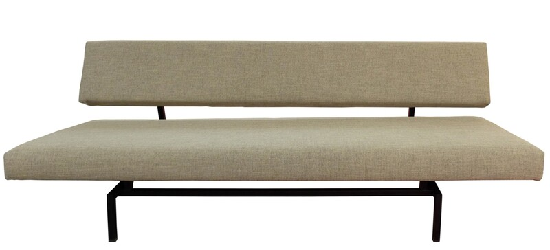Martin Visser Sofa Bed 'T Spectrum, Netherlands, 1950s - Newly Upholstered