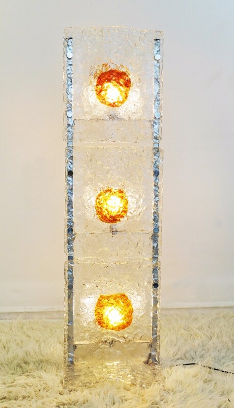 Mazzega floor lamp in Murano glass