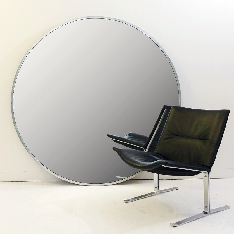 Metal Framed Oversized Round Mirror ⌀ 160cm