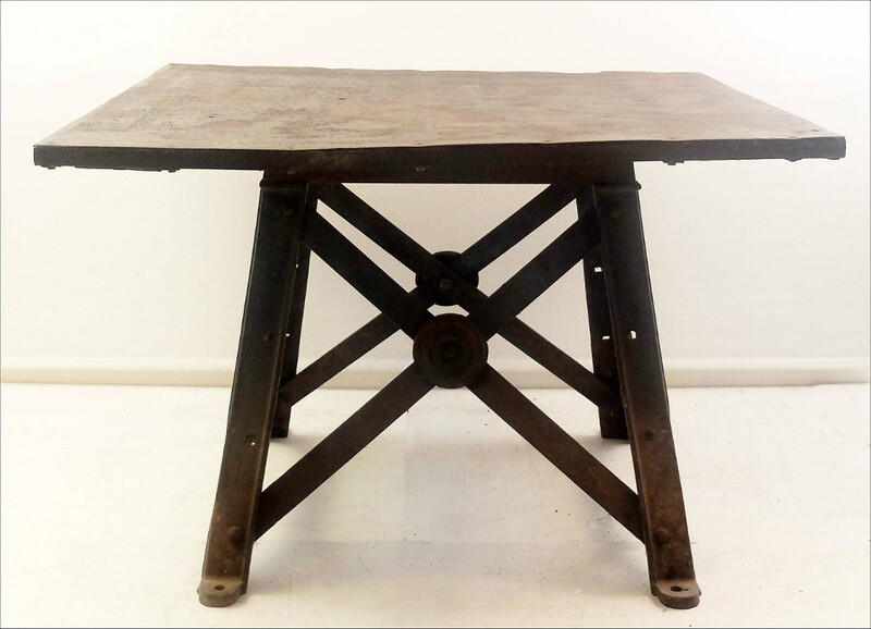metal industrial table from factory