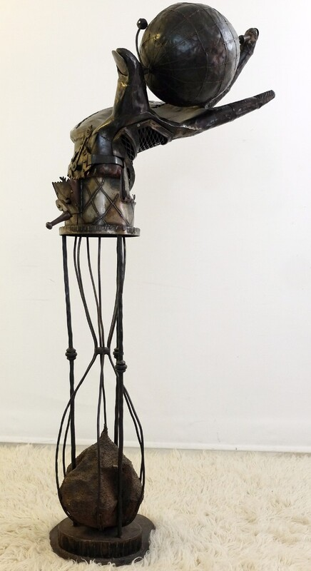 metal sculpture by john mills
