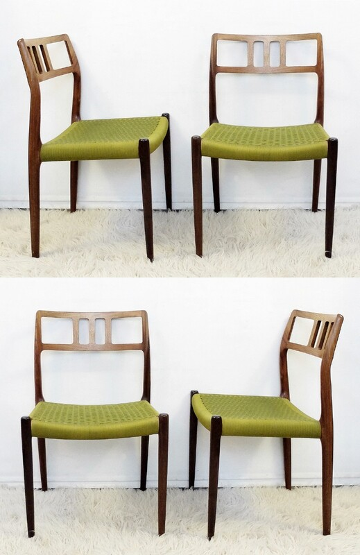 Model 79 Dining Chairs By Niels Otto Moller For JL Moller Mobelfabrik Set Of 4
