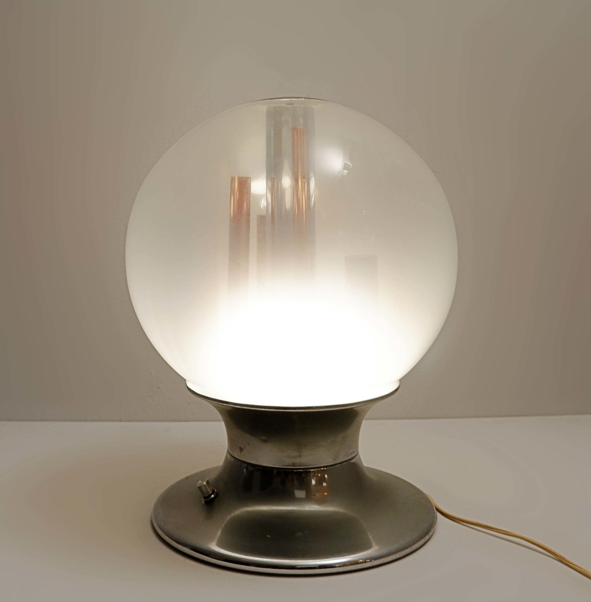 Murano Glass Globe And Copper Table By Angelo Brotto Table Lamp 1960s Via Antica Recent Added Items European Antiques Decorative